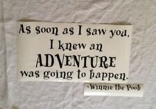 Disney Wall Decal Quote Words Winnie The Pooh  DIY Vinyl Lettering