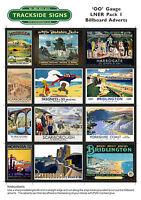 LNER Model Railway Billboard Poster / Advert Sheets OO Gauge 4mm