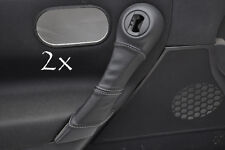 FITS RENAULT MEGANE  2002-2008 2X DOOR HANDLE COVERS grey stitching
