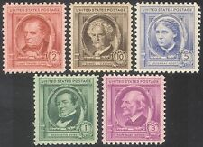 USA 1940 Famous Americans/Authors/People/Writers/Books/Literature 5v set n41372
