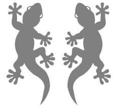 2 Gecko-Aufkleber silber-metallic. f.  Auto Tuning Deko