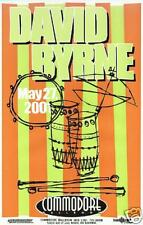 David Byrne 2001 Vancouver Concert Tour Poster - Talking Heads, Worldbeat Music