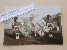 MILITARY PHOTOGRAPH - GORDON HIGHLANDERS - REGIMENTAL COLOURS c1899 - m1124