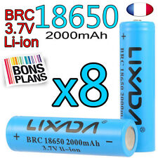 8 PILE RECHARGEABLE 18650 Li-ion 3.7V 2000Mah BATTERIE LIXADA • DEUTSCH •