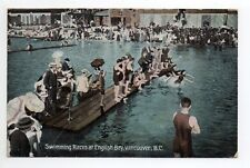 CANADA carte postale ancienne VANCOUVER Swimming races at english bay
