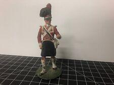 """Vintage Scottish Kilt Solider Figurine 4.25"""" Metal Paperweight Signed"""