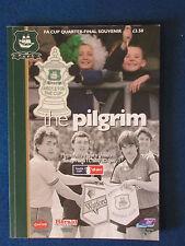 Plymouth Argyle v Watford - FA Cup Quarter Final Programme - 11/3/2007