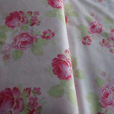 MASSIVE REMNANT FreeSpirit LOLA ROSES Cotton Fabric -WHITE- Approx 114cm x 0.4M