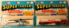 DTE 2 CARDED FRANCE MAJORETTE # 364 SHELL TANK TRUCK & 371 HELICOPTER NIOP