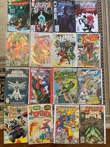 17 COMIC BOOK LOT- MARVEL, DC Very rare comics Great Condition