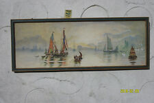 Two Watercolour Paintings by C. Bland 1880. Ships & Steamers.