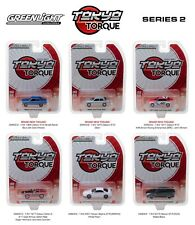TOKYO TORQUE RELEASE 2 SET OF 6 CARS 1/64 DIECAST MODELS BY GREENLIGHT 29900