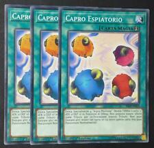 Set 3 Carte :   CAPRO ESPIATORIO -  Comune da Mazzo in Italiano  YUGIOH