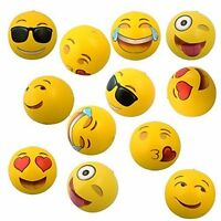 """Set of 12~ Emoji Face Beach Ball Inflatable Round for Water Play Pool & Kids 12"""""""