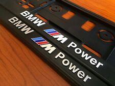 2 x ECHTE 3D Kennzeichenhalter Nummernschildhalter BMW M Power M3 M5 M6 SILVER