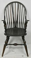 Wallace Nutting Brace Back Continuous Arm Windsor Arm Chair Bench Made