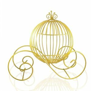 *New* Small Wire Cinderella Pumpkin Coach | Carriage Centerpiece - 3 Colors