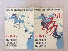 PAGELLA SCOLASTICA REGIME FASCISTA P.N.F. GIOVENTU' ITALIANA LITTORIO 1939/40