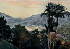 Sri Lanka, Kandy, the lake ..Antique photochrom,late 19th century