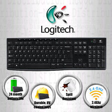 Logitech K270 USB Wireless Sleek UK Keyboard *Spill resistant + Durable UV Keys*