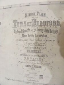 OLD BLOCK PLAN OF THE TOWN OF BRADFORD 1861