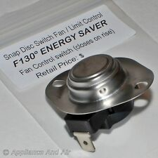 F140 Energy Saver Snap Disc Low Limit Fan Switch Gas/Pellet/Electric + Instruct.