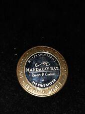 10 $ Nevada Las Vegas Token 999 Silber Mandalay Bay Casino  super Erhaltung ! !