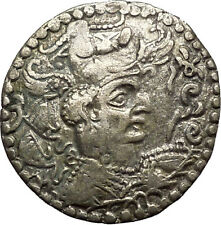 Hephthalites or White Huns Napki Malka Silver Drachm Ancient Silver Coin i53467
