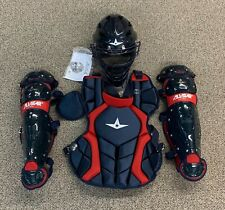 All Star Players Series Youth 7-9 Catchers Gear Set - Navy Blue Red