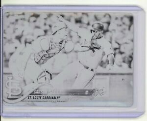 Carson Kelly 1/1 printing plate card 2018 Topps Update NM St. Louis Cardinals