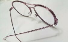 New Women's Pink Fashion Eyeglasses - Clear Lens Diamond Studded Frames