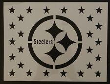 "Pittsburgh Steelers Flag Star Stars 11"" x 8.5"" Custom Stencil FAST FREE SHIPPING"