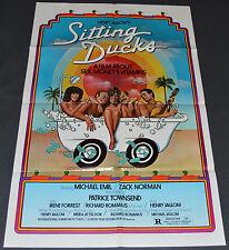 SITTING DUCKS 1980 ORIGINAL 27x41 MOVIE POSTER! SEXY EXPLOITATION COMEDY!