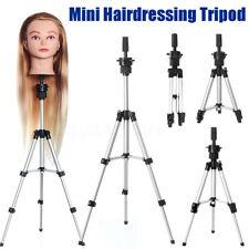 Adjustable Tripod Stand Salon Mannequin Head Wig Hairdressing Training Holder