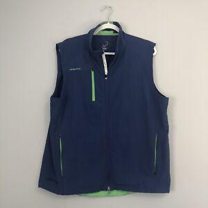 Zero Restriction Tour Series Broadridge Full Zip Golf Vest Size Men's Large