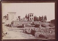 Roma Roma Italia Foto viaggio amatoriale in Italia 1898 Vintage citrato