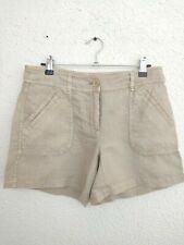 Tommy Bahama Relax Leigh Fit Shorts Beige Linen Pockets Size 2