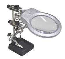 HELPING HANDS MAGNIFIER + LIGHT illuminated soldering iron stand third hand