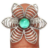 Genuine Larimar - Dominican Republic 925 Silver Jewelry Ring s.6.5 AR208553  XGB