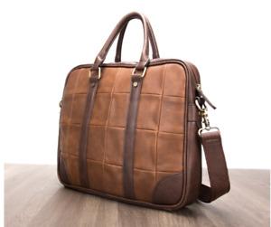 New Fashion Business Mens Leather Handbag Laptop Shoulder Bag BLH