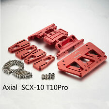CNC Red T-10Pro Chassis Adjust Mount Gear Case Bottom Plate AXIAL SCX10 #1503
