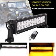 "Amber & White & Strobeflash Remote 14"" LED Light Bar Driving Offroad ATV SUV 12"""