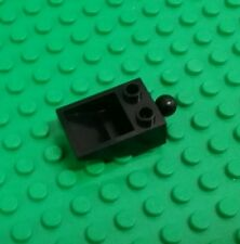 Lego Black Scoop Brick 2x3 Stud w Tow ball connector Plates Space x 1 piece
