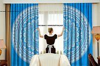 Indian Ombre Mandala Curtains Wall Tapestry Drapes Window Treatment Bohemian Set