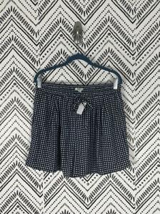 Nwt Women J. Crew Mercantile Geometric Drawstring Easy Pull On Shorts Sz M
