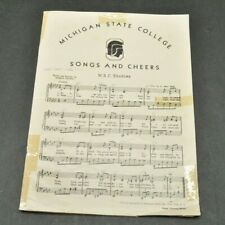 Vintage 1946 Michigan State College Spartans MSU Michigan State Sheet Music