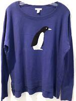 Caslon Womens Sweater Long Sleeve Purple Size XL