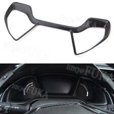 Carbon Fiber Style Dashboard Box Cover Trim Frame For Honda Civic 10th 2016-2018