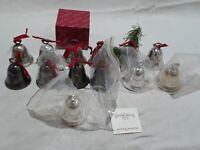 Vintage Reed & Barton Silver Plated Christmas Bell Set of 13 1981-1993
