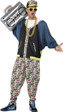 Smiffys Adult Men's 80's Hip Hop Costume Jacket Trousers and Hat Back to The